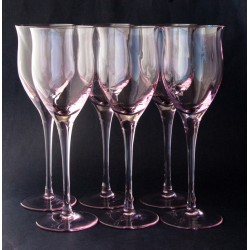 Noritake Royal Pierpont Pink Glasses