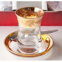 Turkish Tea Cup & Saucer Set